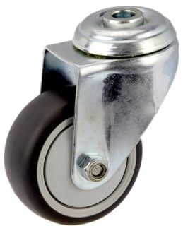 MEDIUM DUTY ZINC PLATED BOLT HOLE MOUNT CASTER TPE WHEEL - MZH07532-TPB.jpg