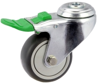 MEDIUM DUTY ZINC PLATED BOLT HOLE MOUNT CASTER TPE WHEEL - MZHD07532-TPB.jpg