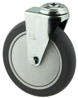 MEDIUM DUTY ZINC PLATED BOLT HOLE MOUNT PU WHEEL - MZH15032-UPB.JPG
