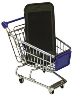 MINI PROMOTIONAL SHOPPING TROLLEY SUPERMARKET CART BLUE - MT-004C-B.jpg