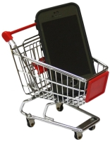 MINI PROMOTIONAL SHOPPING TROLLEY SUPERMARKET CART MINIATURE RED - MT-004C-R.jpg
