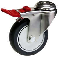 Medium Duty Bolt Hole Mount Castor With Brake - MSHT10032-TPB.JPG