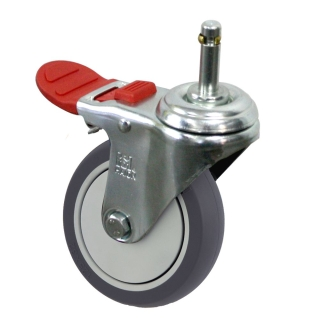 Medium Duty Castor (Grip Neck+BRAKE, TPE)- MZ4GT10032-TPB.jpg