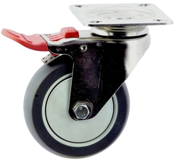 Medium Duty SS Swivel Plate Mount Caster With Brake - MSST10032-TPB.jpg