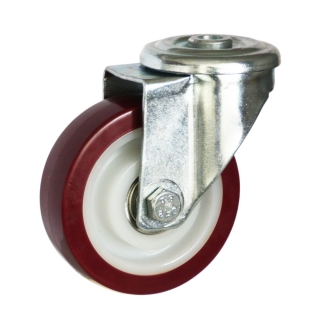 Medium Duty Steel Castor (SWL Bolt Hole, PU Wheel) -DZH10036-UNB.jpg