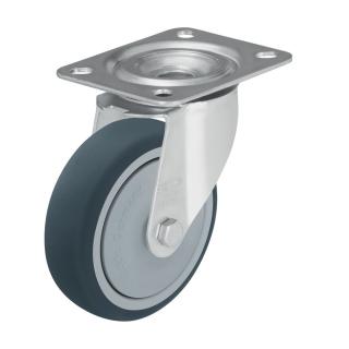 Medium Duty Steel Castor (Swivel Plate,TPU WHEEL) - LE-PATH200K-FI.jpg