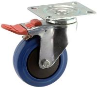 Medium Duty Swivel Plate Mount Castor With Blue Rubber Wheel - MZST10032-BPB.jpg