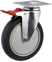 Medium Duty Swivel Plate Mount Castor With Total Brake - MZST15032-TPB.jpg