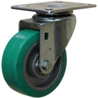 Stainless Steel Swivel Caster With High Temp Rubber Wheel - MZS10040-HAB.jpg