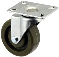 Zinc Plated Swivel Caster With High Temp Phenolic Wheel - MZS10040-EEB.JPG