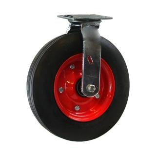 280 x 70 Swivel Castor With Rubber Wheel - PZN350X4-BKS280.jpg