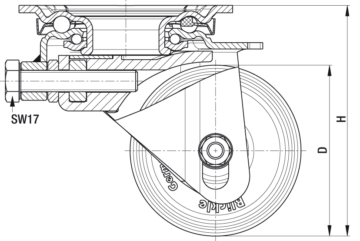 Wheels and castors fitting types
